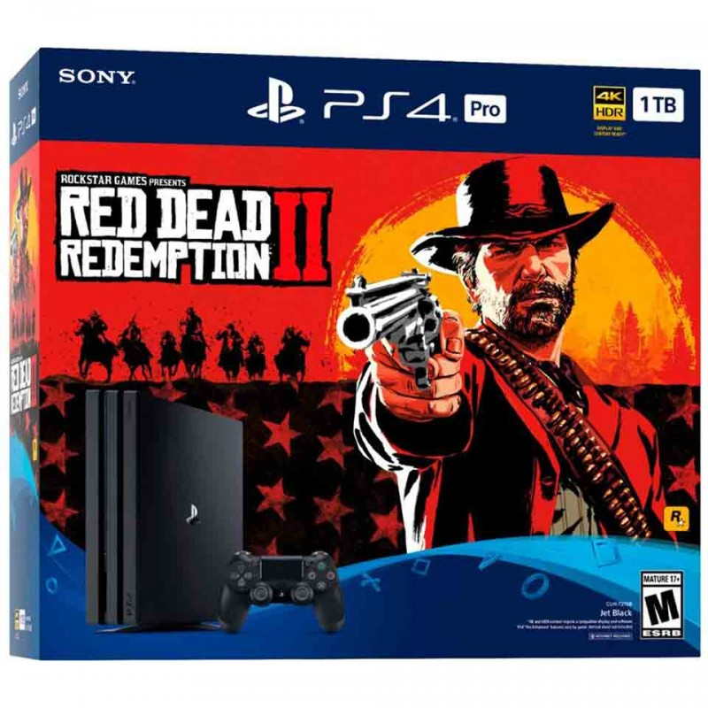 Sony PlayStation 4 Pro Limited Edition 4K 1TB: Red Dead Redemption 2 Bundle (CUH-7106B B01) 2