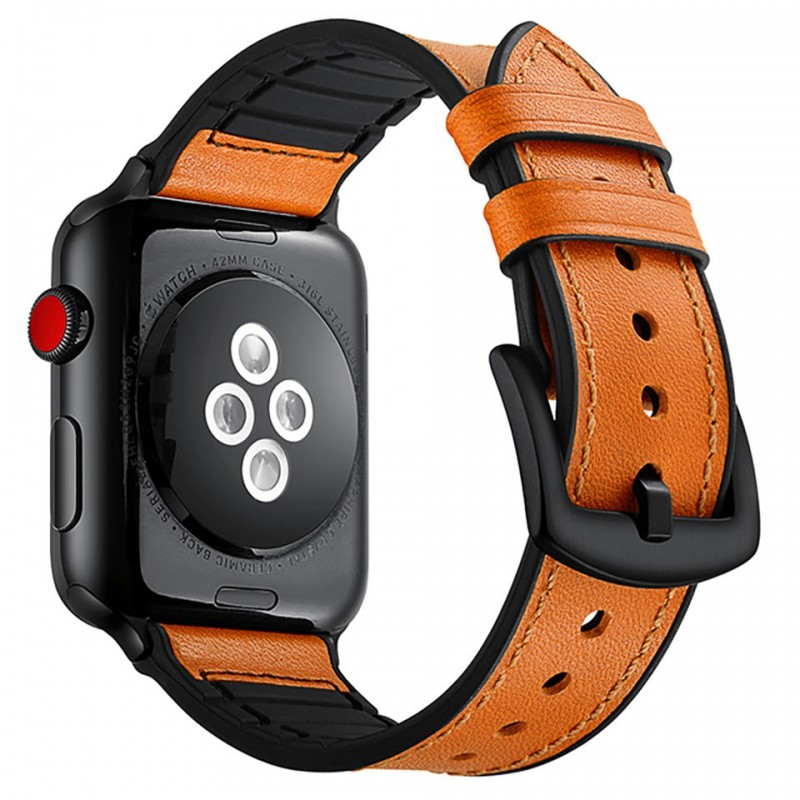 Dây đeo cho Apple Watch 42mm/44mm Jinya Hero Leather Band 10