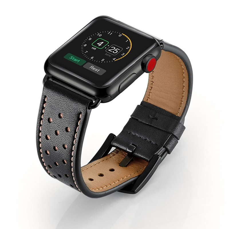 Dây đeo cho Apple Watch 38mm/40mm Jinya Vogue Leather Band 5
