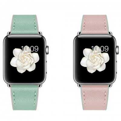 Dây đeo cho Apple Watch Jinya Twins Leather Band 42mm/44mm