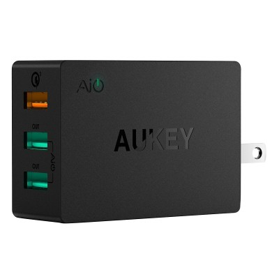 Adapter 3 cổng Quick Chagre 3.0 Aukey PA-T14