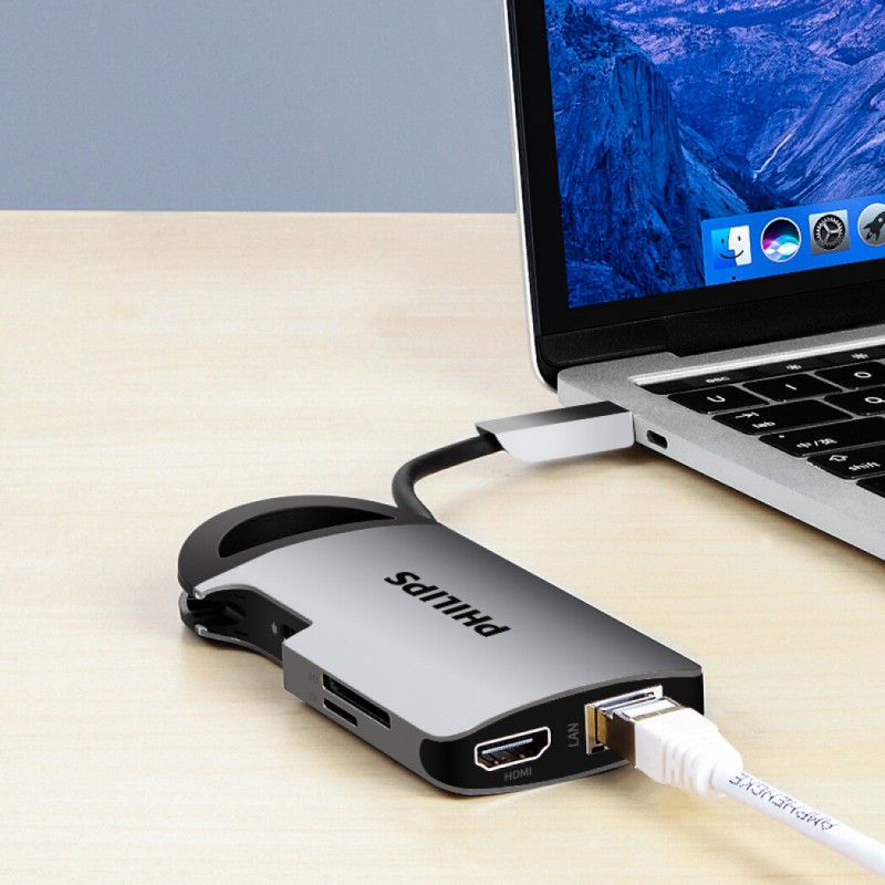 HUB USB-C 8-in-1 Philips SWR1606A/93 PL5082 6