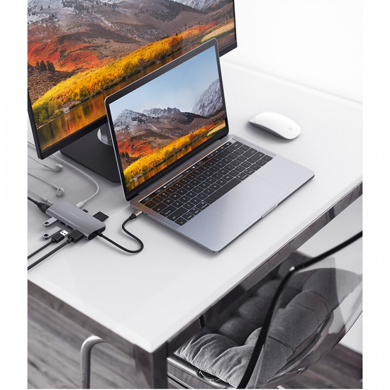 Cổng chuyển HyperDrive Power 9-in-1 USB-C HUB for iPad Pro 2018 HD30F 8