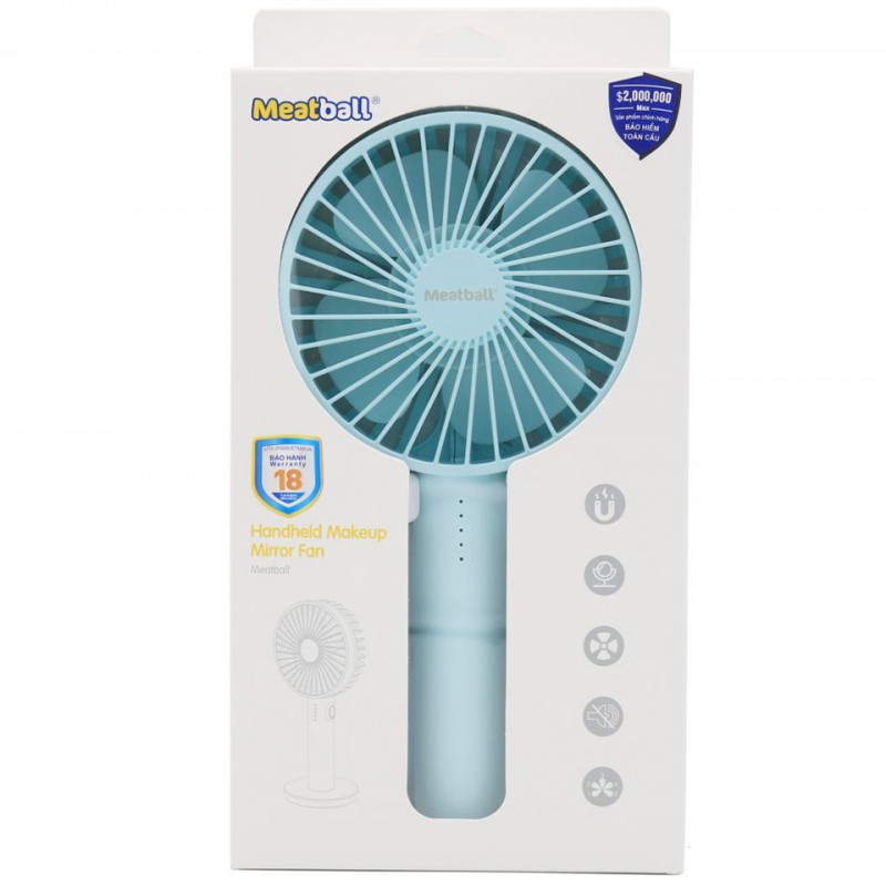 Quạt mini Pisen MeatBall Handheld Makeup Mirror Fan TP-F01GXZ 5
