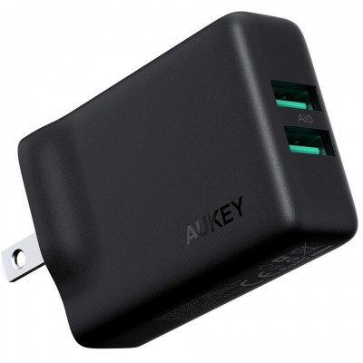 Adapter sạc Aukey Dual-Port USB Wall Charger with GaNFast PA-U50