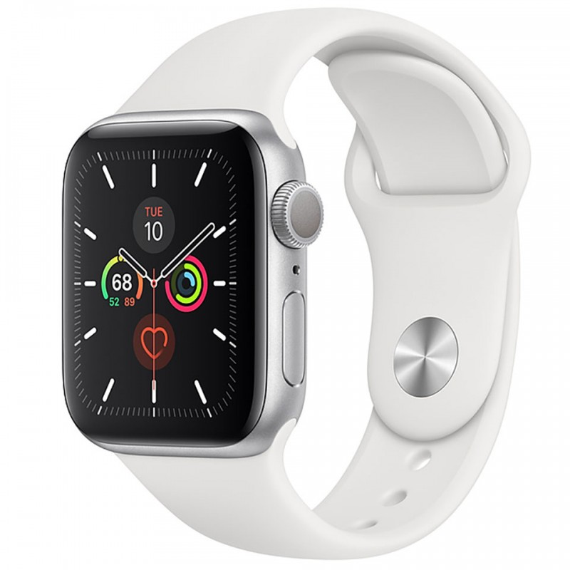 Apple Watch Series 5 GPS 44mm Silver Aluminium Case with White Sport Band MWVD2VN/A