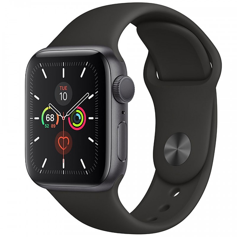 Apple Watch Series 5 GPS 40mm Space Grey Aluminium Case with Black Sport Band MWV82VN/A
