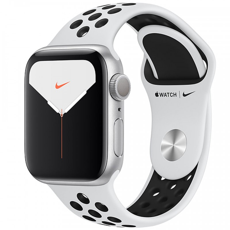 Apple Watch Nike Series 5 GPS 40mm Silver Aluminium Case with Pure Platinum/Black Nike Sport Band MX3R2VN/A