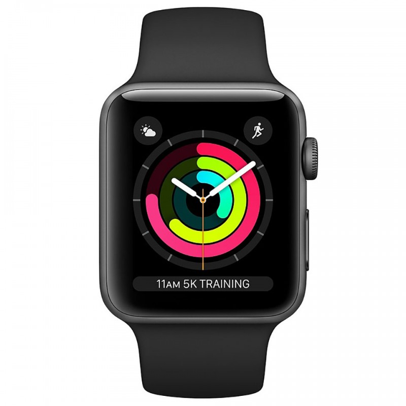 Apple Watch Series 3 GPS 42mm Space Grey Aluminium Case with Black Sport Band MTF32VN/A 2