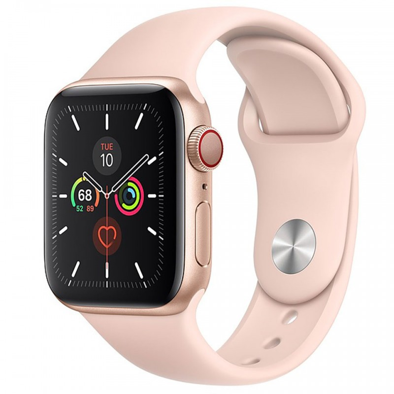 Apple Watch Series 5 GPS + Cellular 40mm Gold Aluminium Case with Pink Sand Sport Band MWX22VN/A