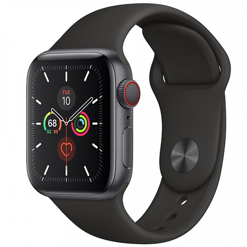 Apple Watch Series 5 GPS + Cellular 44mm Space Grey Aluminium Case with Black Sport Band MWWE2VN/A