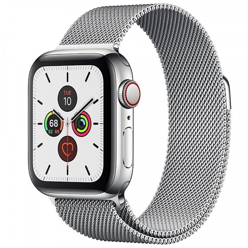 Apple Watch Series 5 GPS + Cellular 44mm Stainless Steel Case with Stainless Steel Milanese Loop MWWG2VN/A