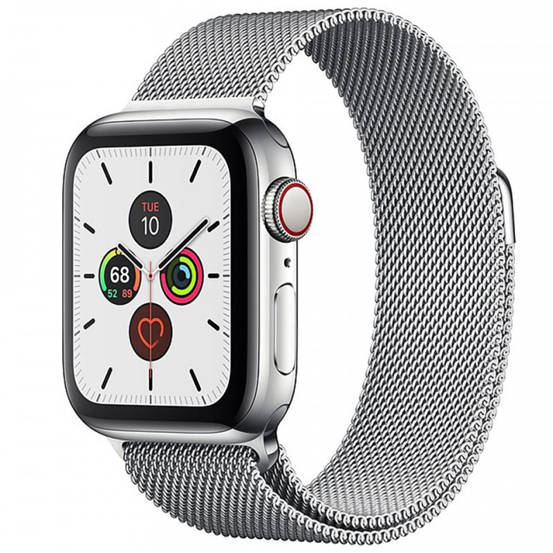 Apple Watch Series 5 GPS + Cellular 40mm Stainless Steel Case with Stainless Steel Milanese Loop MWX52VN/A