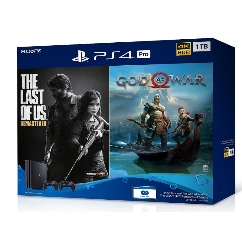 Sony PlayStation 4 Pro 4K 1TB Bundle: The Last Of Us, God Of War CUH-7218B OM 1