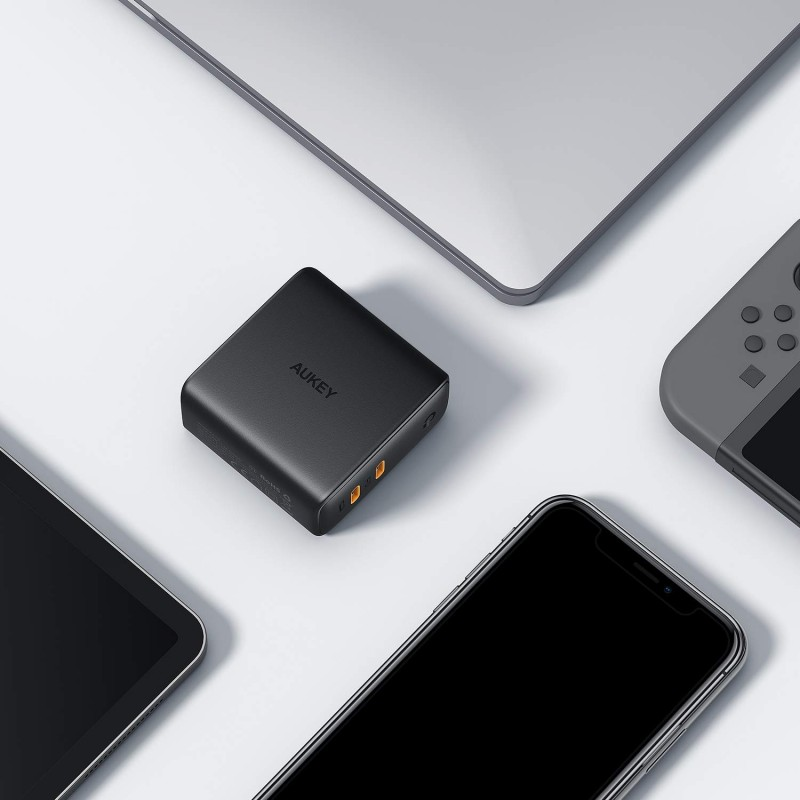 Adapter sạc USB-C PD 2 cổng Aukey Focus Duo 63W PA-D5 8