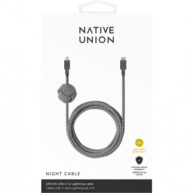 Cáp sạc USB-C to Lightning Native Union Night 3m 3