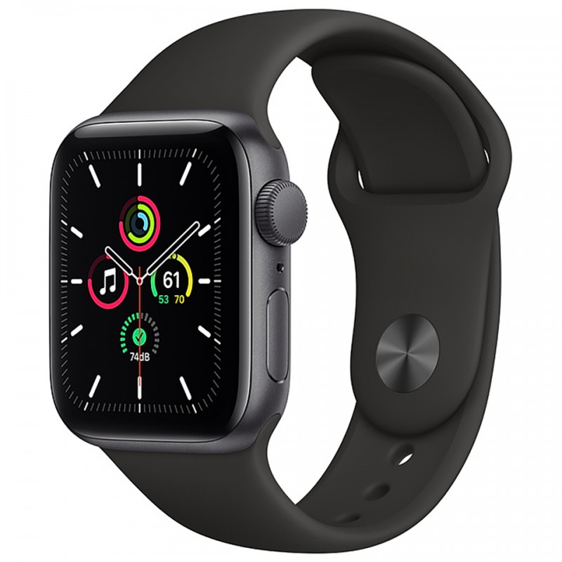 Apple Watch SE GPS 40mm Space Gray Aluminum Case with Black Sport Band MYDP2VN/A