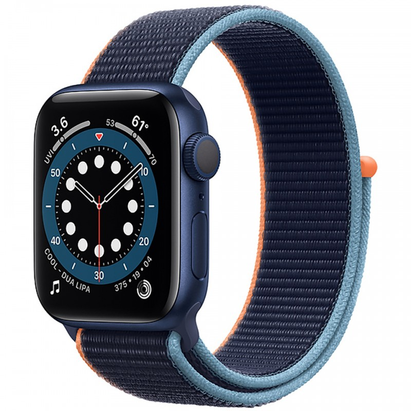 Apple Watch Series 6 GPS 40mm Blue Aluminum Case with Deep Navy Sport Loop Band MG143VN/A 1