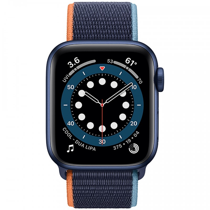 Apple Watch Series 6 GPS 40mm Blue Aluminum Case with Deep Navy Sport Loop Band MG143VN/A 2