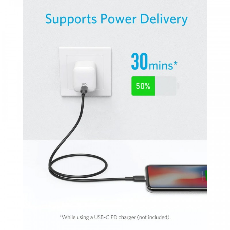 Cáp USB-C to Lightning Anker PowerLine II 0.9m A8632 3