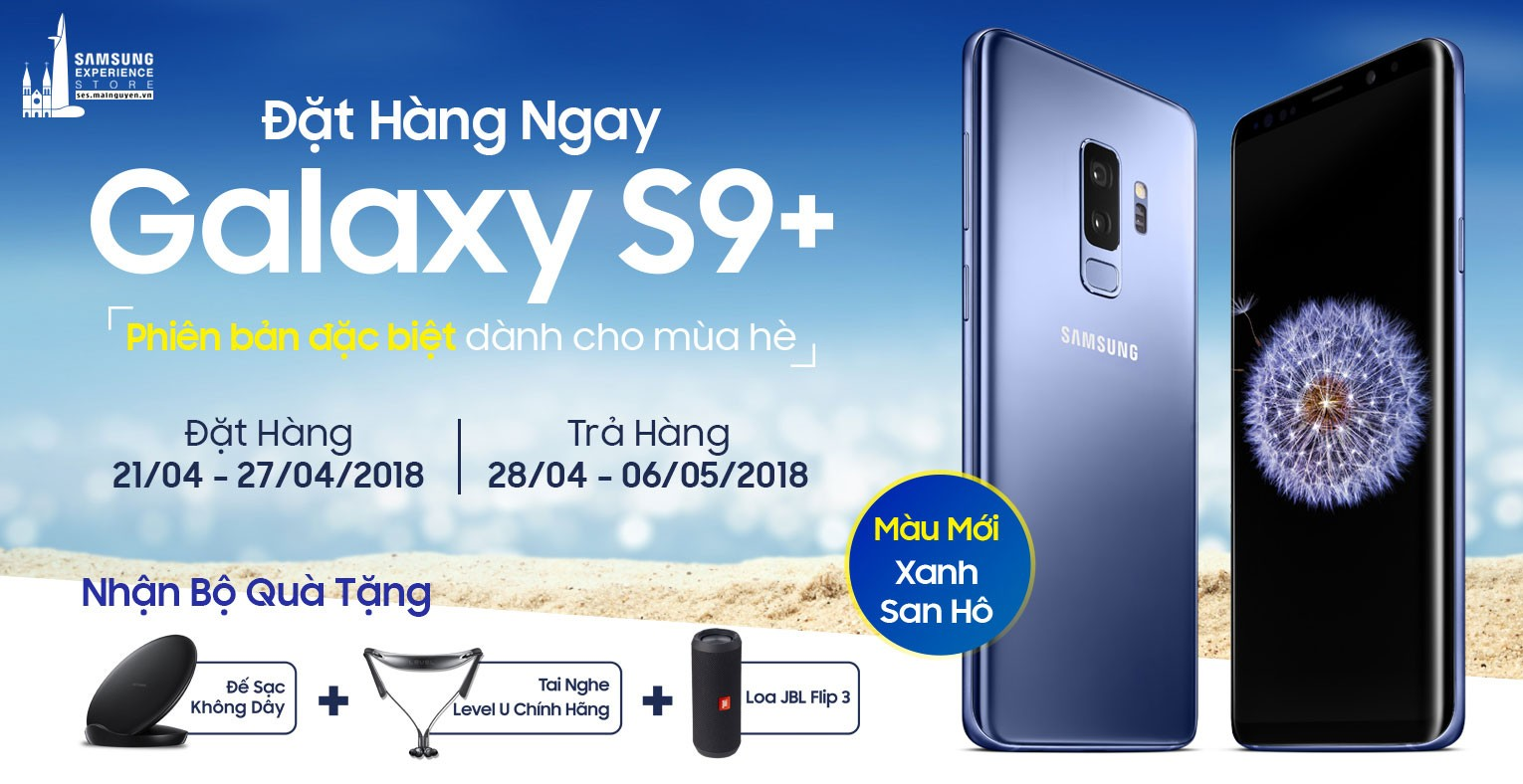 SAMSUNG GALAXY S9+ G965 64GB BLUE CORAL